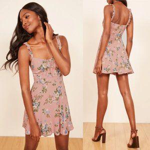 Reformation Elyse Floral Smocked Summer Dress
